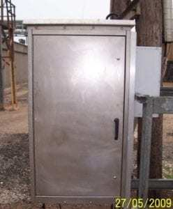 Stainless Steel Modular Stainless Steel modular cabinet used for communications in the oil and gas industry.