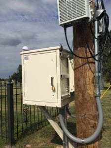Modular Enclosure used for Small Cell installed by United Wireless in Dodge City Kansas