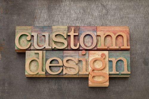 custom design - text in vintage letterpress wood type against grunge metal surface