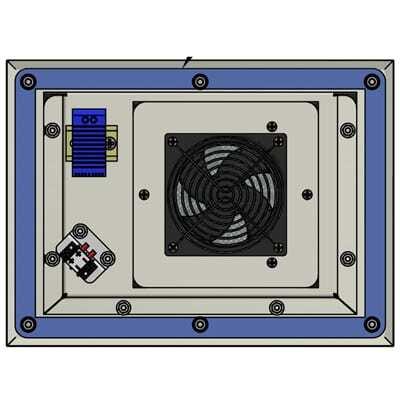 Exhaust Fan Filter 89 Cfm 24v Dc Am Fp 24 Sc